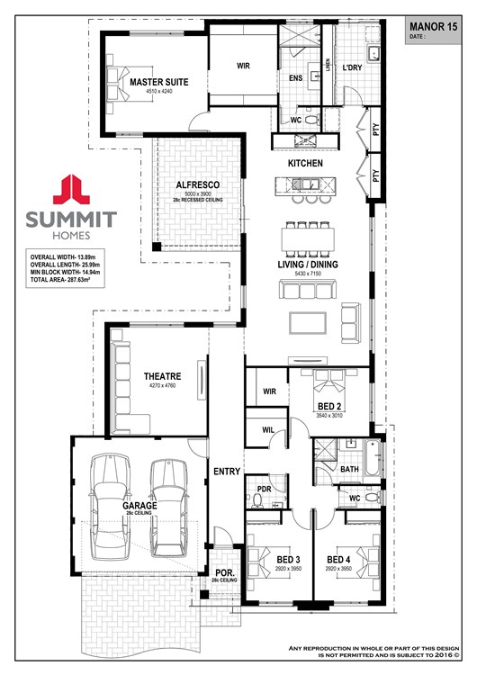 Manor 15 floor plan