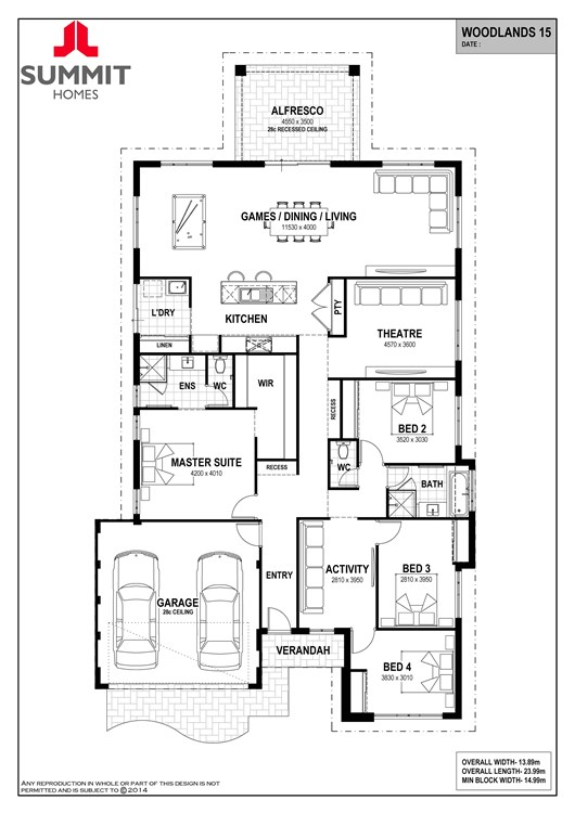 Woodlands 15 floor plan
