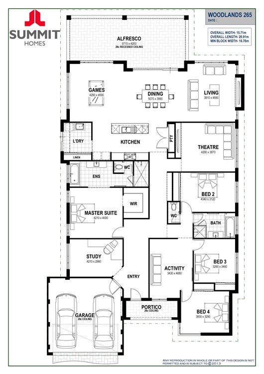 Woodlands 265 floorplan