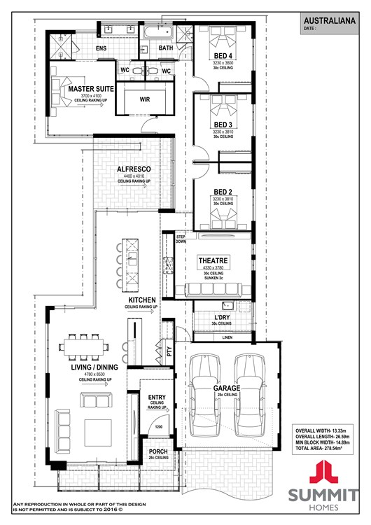 Australiana floor plan