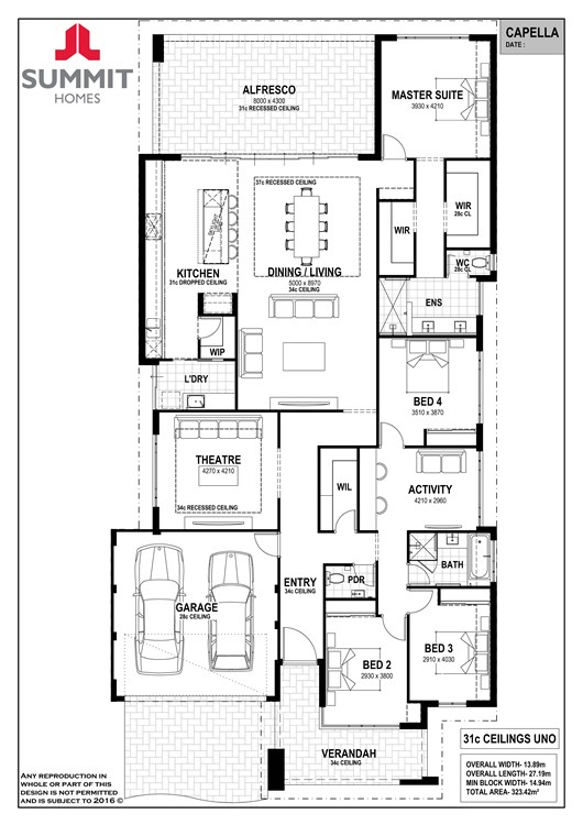 Capella floor plan