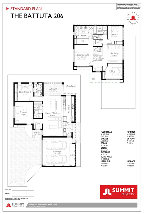 Battuta floorplan