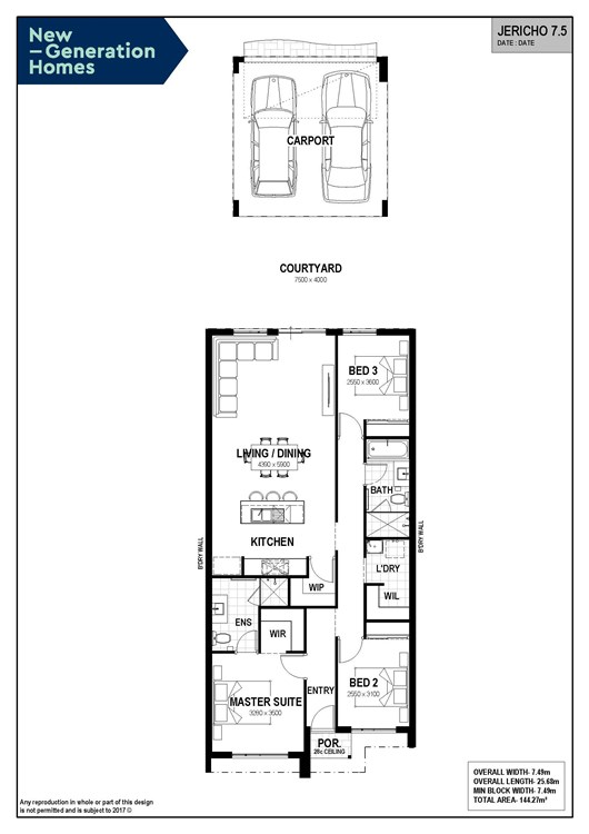 Jericho 7.5 floor plan
